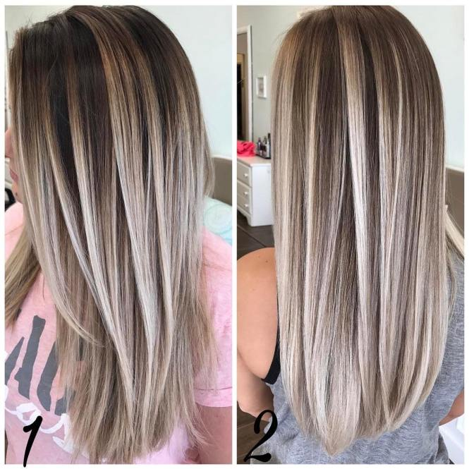 Hair Color 2018 Long Blonde Highlighted Layered Collection