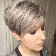 trendy layered short haircut