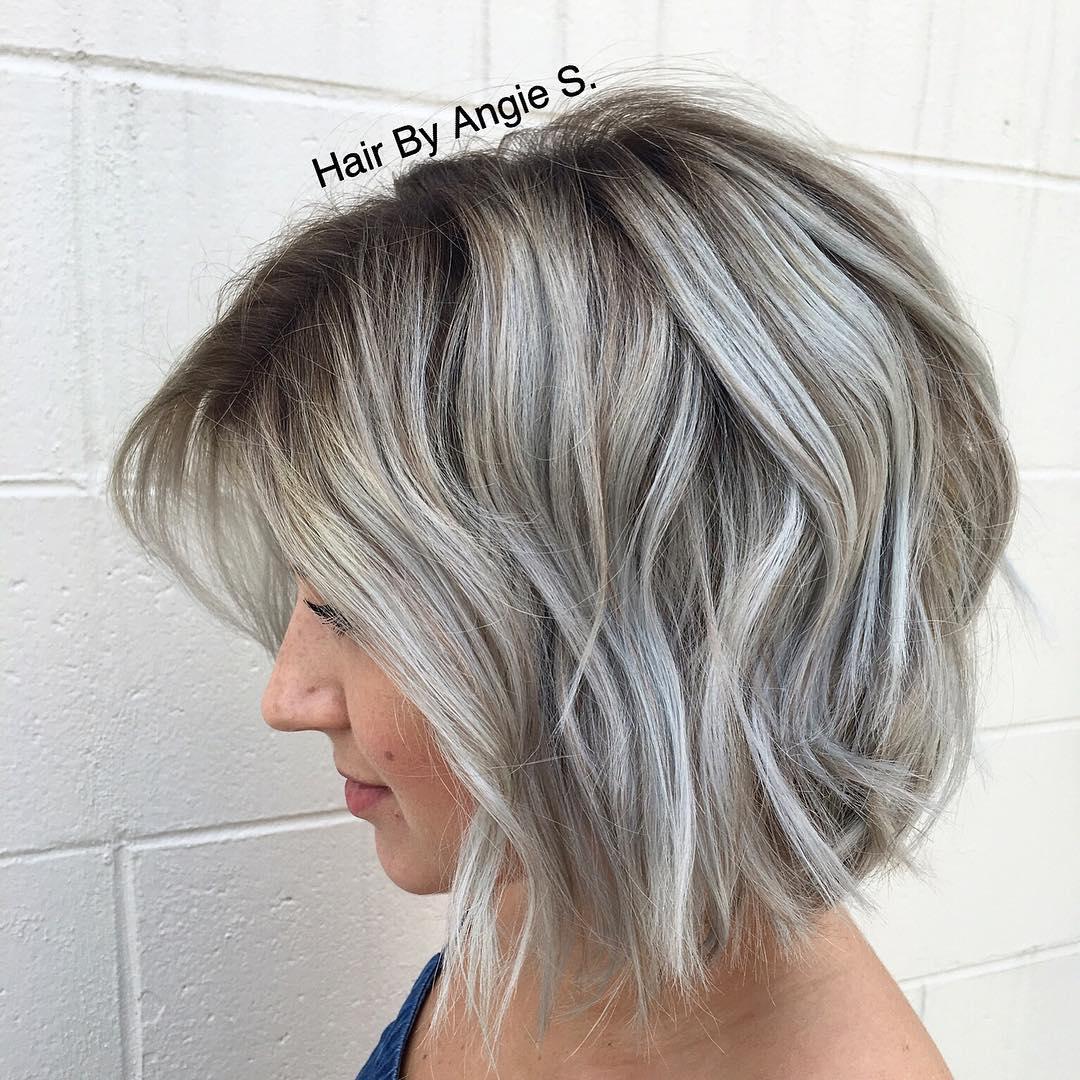Short Ash Blue Hair Color   Fq beloq