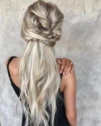 10 Messy Braided Long Hairstyle Ideas for Weddings ...