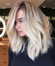 balayage straight medium haircuts