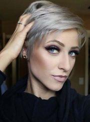 short hair color female