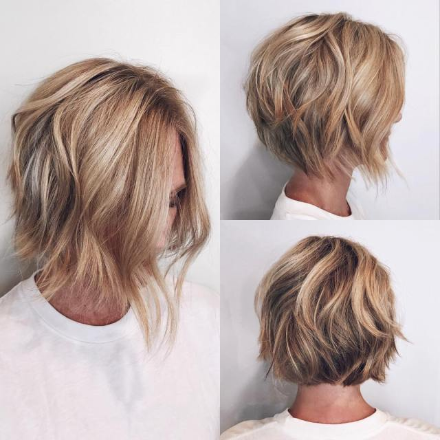 10 easy wavy bob hairstyles with balayage - 2019 female