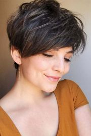 edgy pixie cuts with cute color