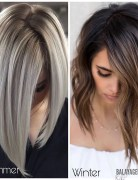 Stylish Balayage Ombre Hairstyles for Shoulder Length Hair - Medium Length Hair Color Ideas
