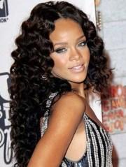 rihanna long hairstyles 2012