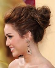 miley cyrus updo hairstyles 2012