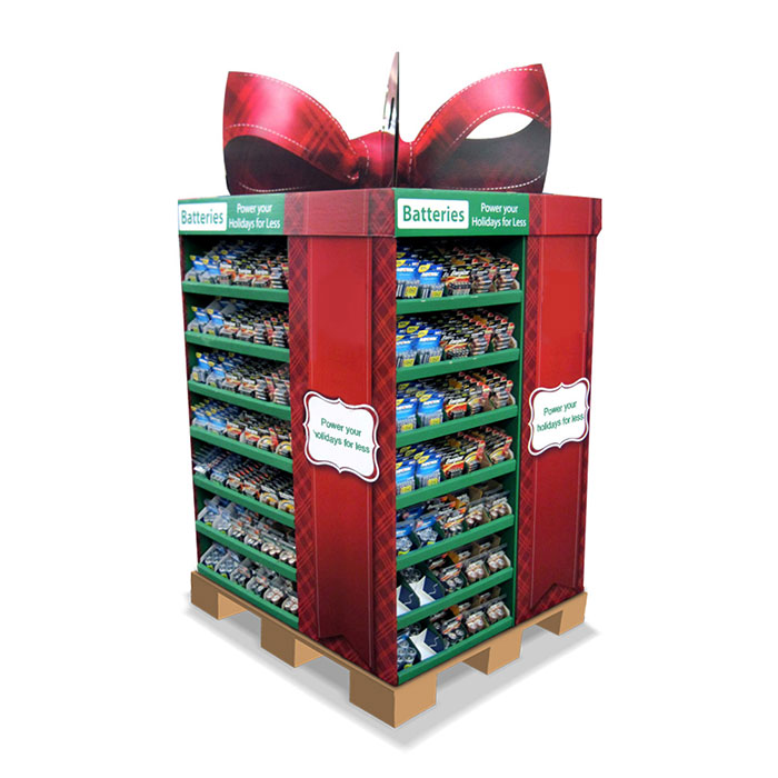 Creative Pallet Display For Batteries Impact Display
