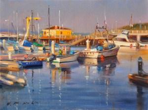 """Evening Monterey Bay, 12""""x16"""""""