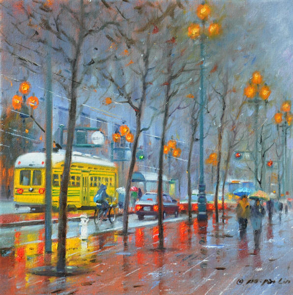 In the Rain, 12x12 (SOLD)