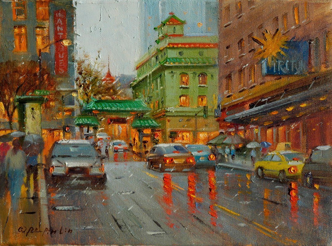 SF Attraction, 9x12 (SOLD)