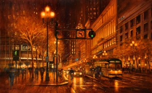 Raining Night, 36x48 (SOLD)
