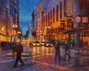 SF Night Lights, 16x20
