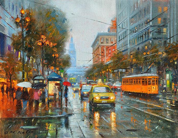 The Morning It Rained, 11x14 (SOLD)