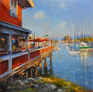 "Waterfront Restaurant, 12""x12"""
