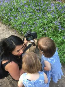 photographer working with children