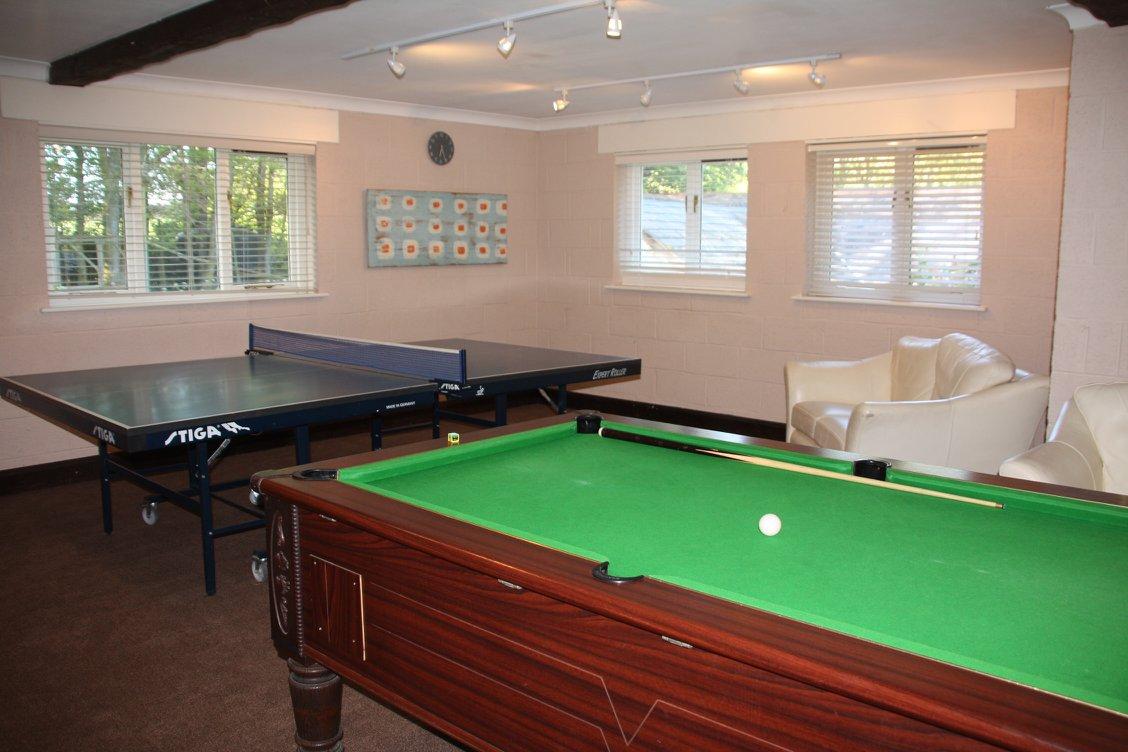 Games room at Greenwood Grange
