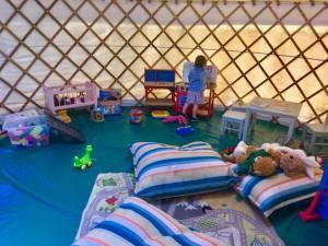 Outdoor play equipment for children at Greenwood Grange