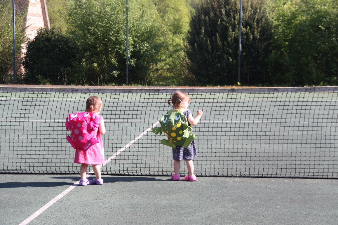 The tennis courts at Greenwood Grange