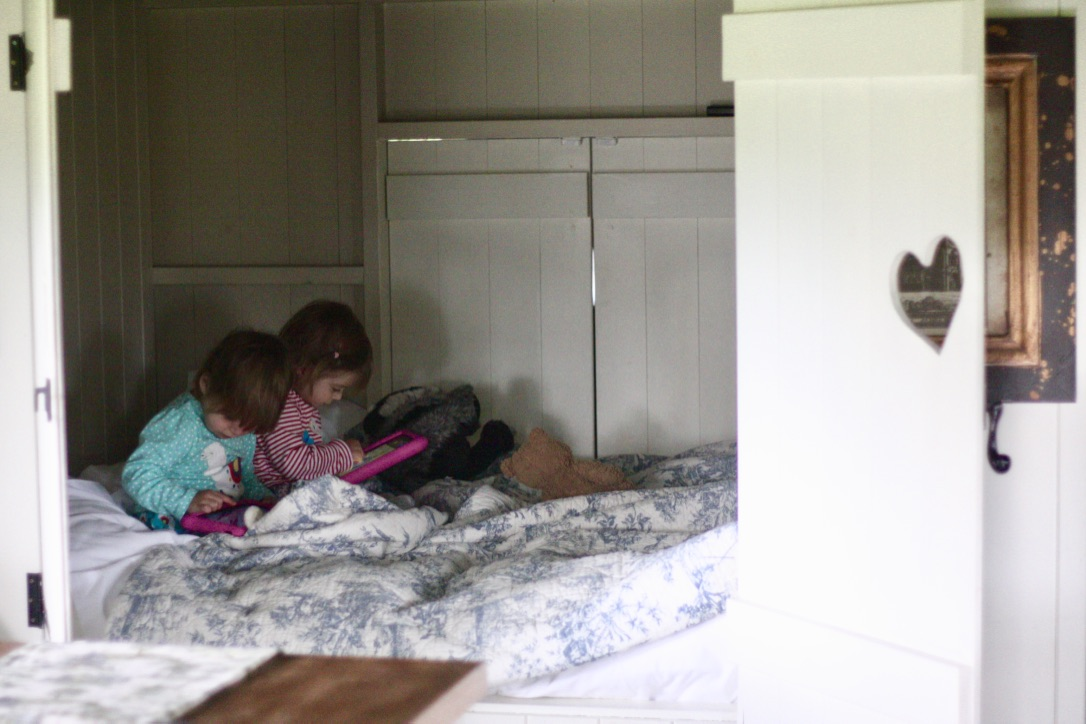 The double bunk bedroom in one of the safari tents at the Dandelion Hideaway Glamping site