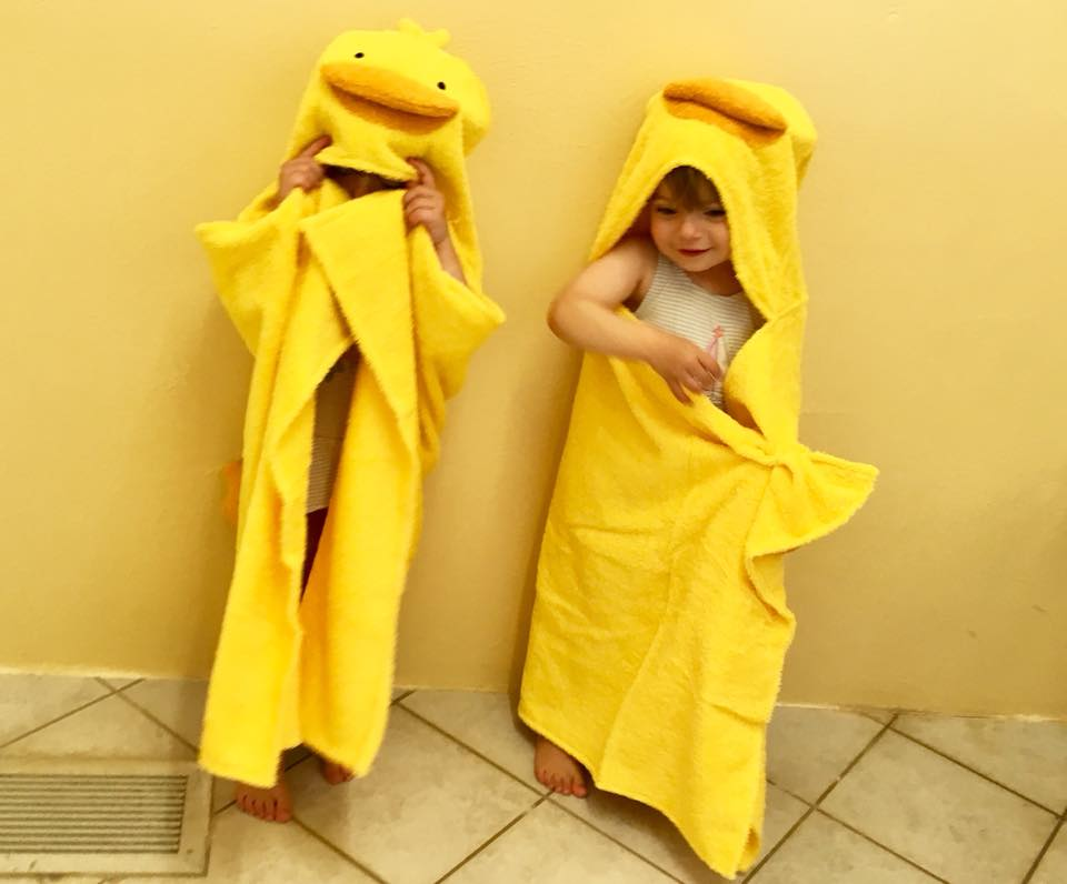 soak and sleep duck themed towels