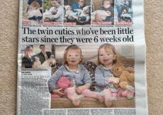 twins in the daily mail telling their story of their film work