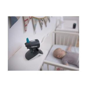 Yoyo travel monitor looking on baby from a chest of draws. The perfect product for a mummy at a baby shower.