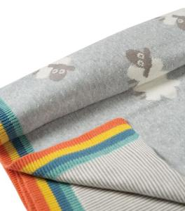 Frugi personalised grey baby blanket. The perfect product for a mummy at a baby shower.