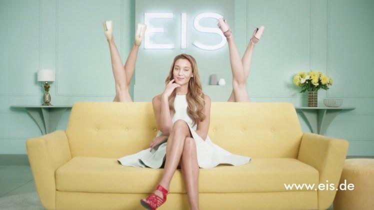 Screenshot aus Eis.de Werbung