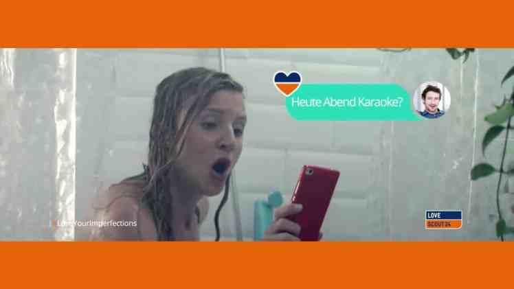 Screenshot aus Lovescout24 Werbung