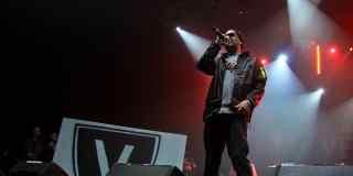 Rapper auf Bühne