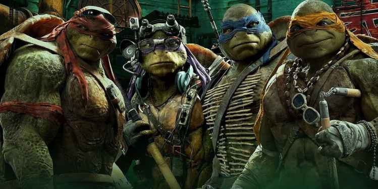 Filmposter Teenage Mutant Ninja Turtles 2