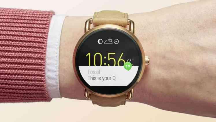 Screenshot aus Fossil Q Smartwatch Werbung