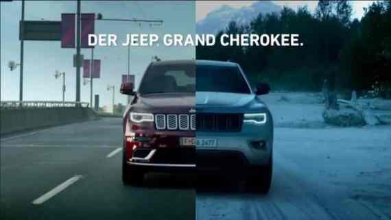 Screenshot aus Jeep Grand Cherokee Werbung