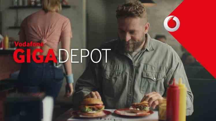 Screenshot aus GigaDepot Werbung