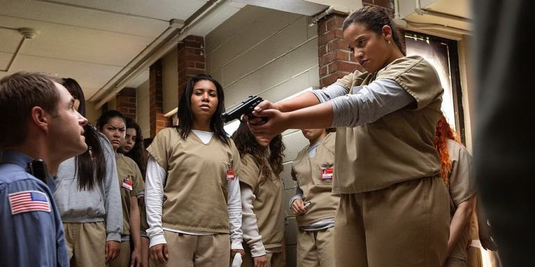 "Bild aus der Netflix-Serie ""Orange is the new black"""