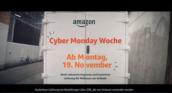 Screenshot aus Amazon Cyber-Monday-Woche Werbung
