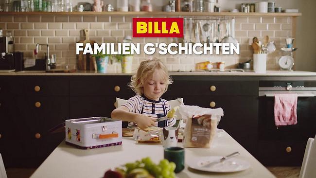 Screenshot aus BILLA Werbung