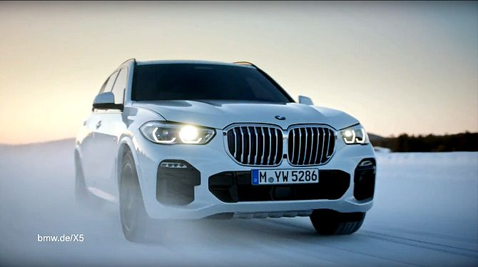Screenshot aus BMW X5 Werbung