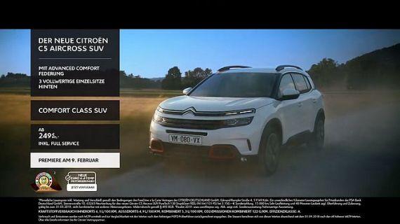 Screenshot aus SUV Citroën C5 Aircross Werbung