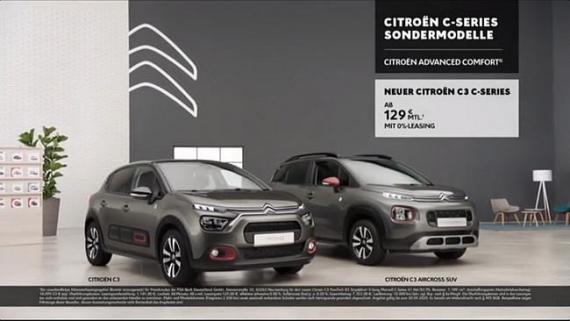 Screenshot aus der Citroen C3 Werbung