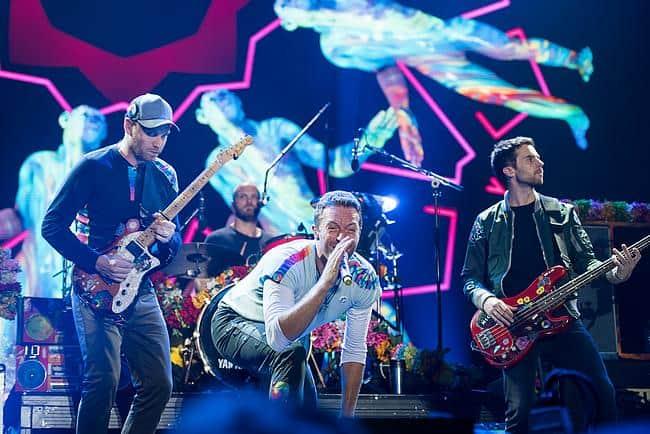 Coldplay auf einem Konzert