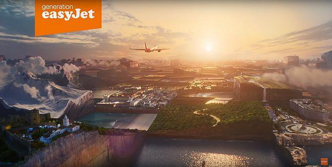 Screenshot aus easyJet Werbung