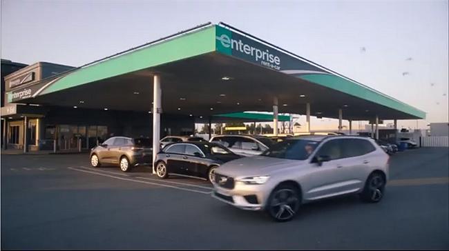Screenshot aus der Enterprise Rent-A-Car Werbung
