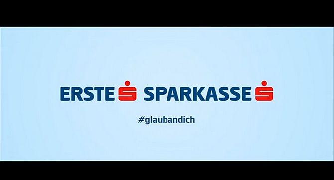 Erste Sparkasse Logo Werbung