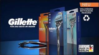 Screenshot aus der Gillette Werbung