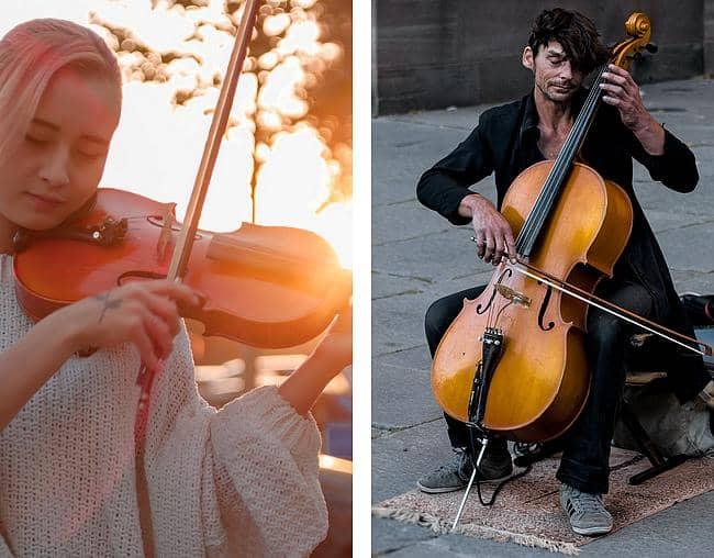 Haltung Geige und Cello