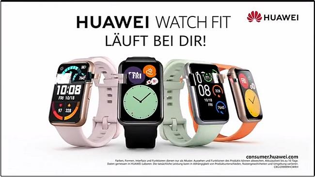 Screenshot aus der Huawei Watch Fit Werbung