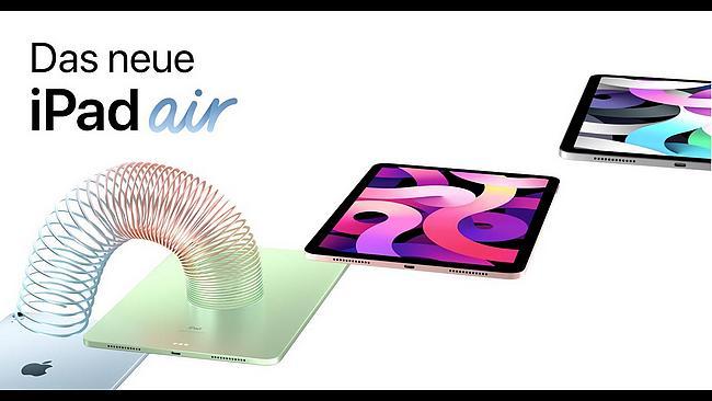 Screenshot aus der iPad Air Werbung