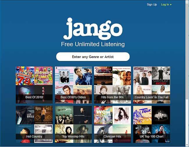 Jango Webseite